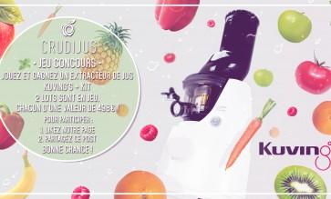 Jouez et gagner un extracteur de jus Kuving's + kit. 2 lots sont en jeu chacun d'une valeur de 498€