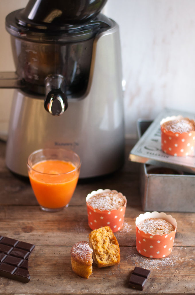 Muffins « express » à la carotte, vanille et clémentine   Crudiblog - Extracteur de jus Recettes ...